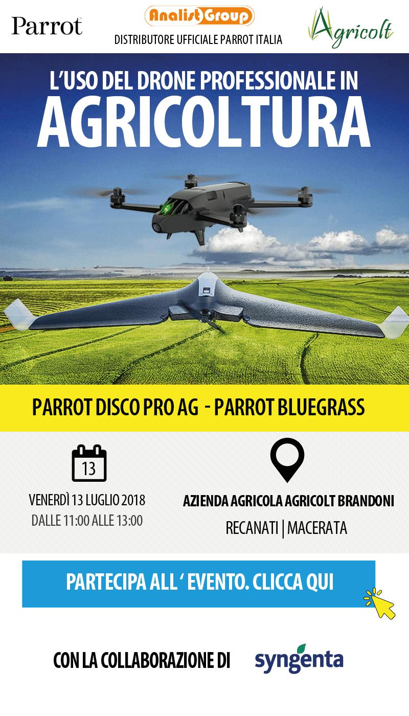 AgricoltBrandoni - L'uso del Drone professionale in Agricoltura
